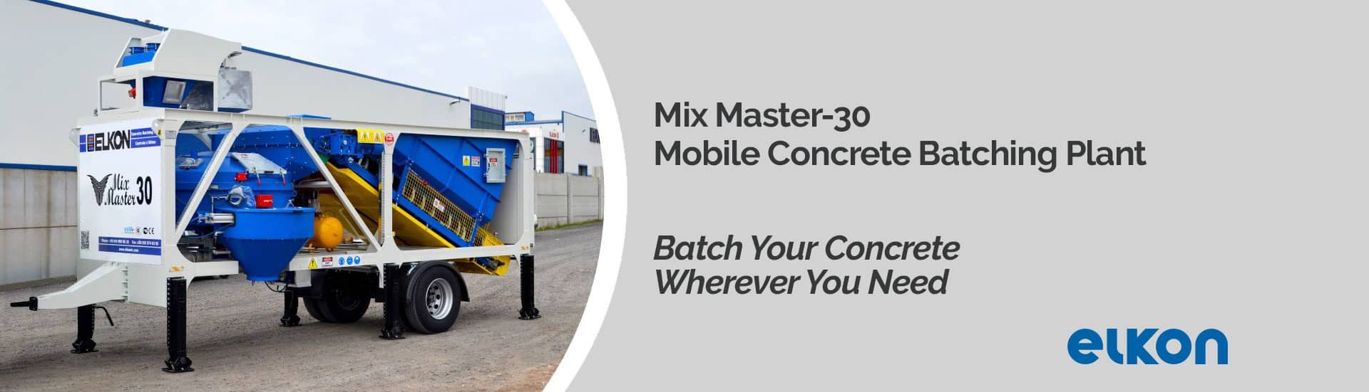Mix Master-30 - Mobile Concrete Batching Plant